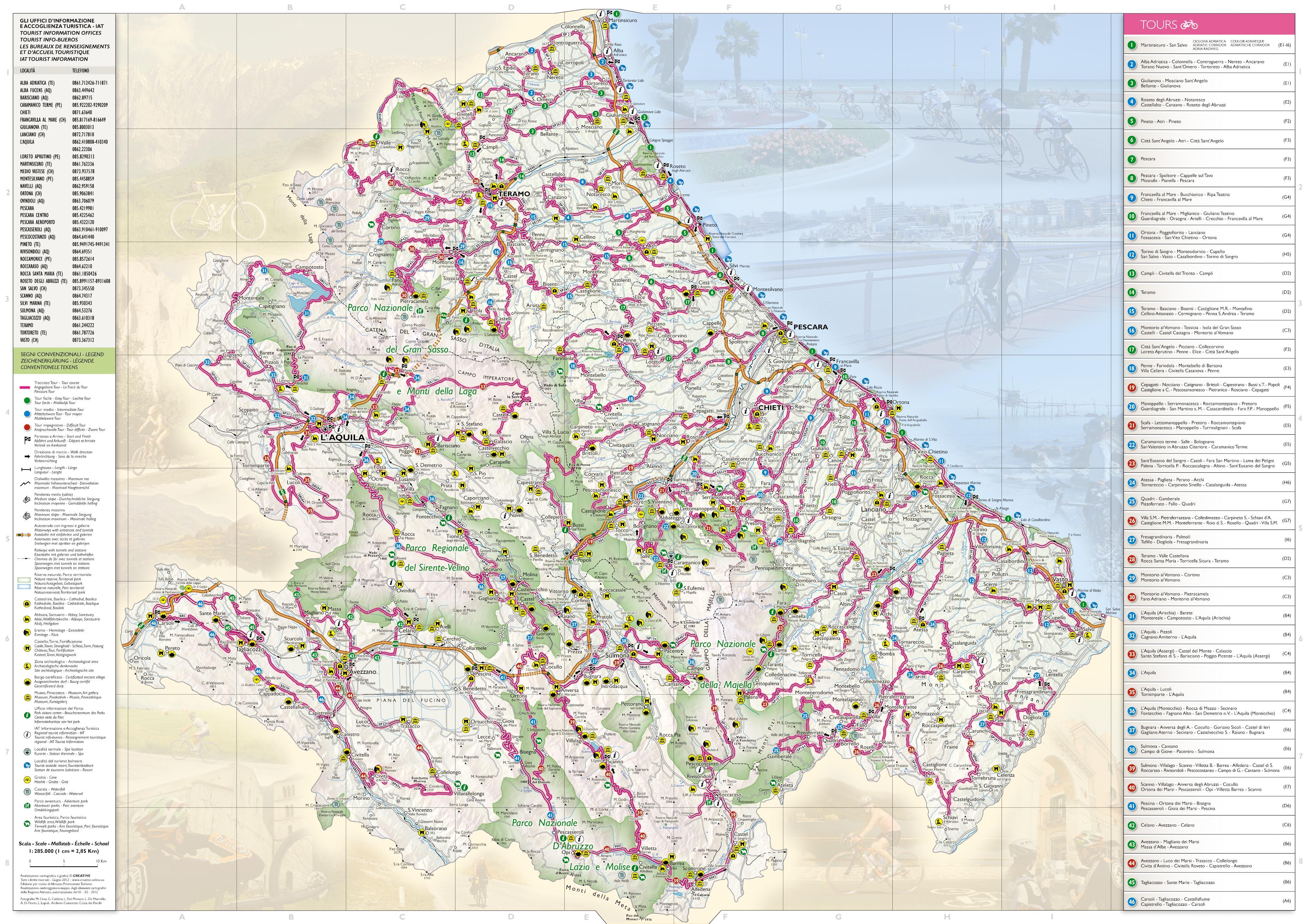 Cartina Geografica Roccaraso.Tour Regione Abruzzo Dipartimento Sviluppo Economico Turismo